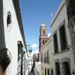 The cathedral is visible from any part of Zacatecas. It is an easy way to orient yourself.