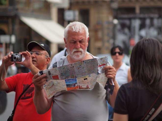Man Reading a Map