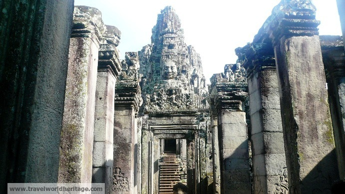 Bayon is as much of a labyrinth as any other temple in Angkor. However, the perfectly symmetrical faces around each pillar make getting lost half the fun.