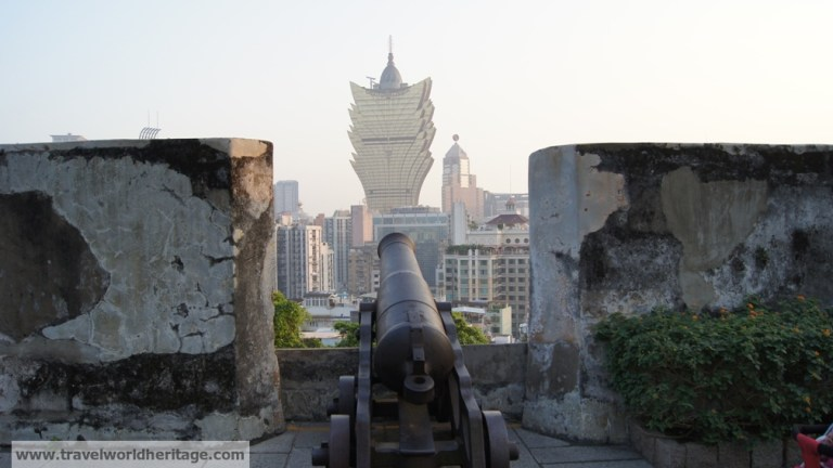 Macao historical center fortress