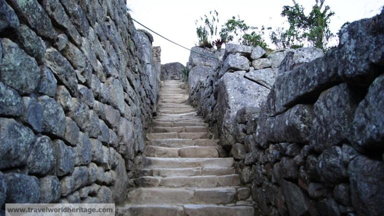 Corridor in Machu Picchu