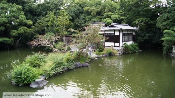 Kyoto shrine ducks