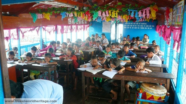 I wish I could teach these kids on the Cambodian Ship School without worrying about the money.