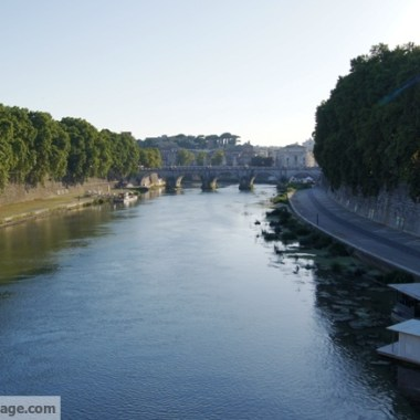 The Tiber River is surprisingly clean.