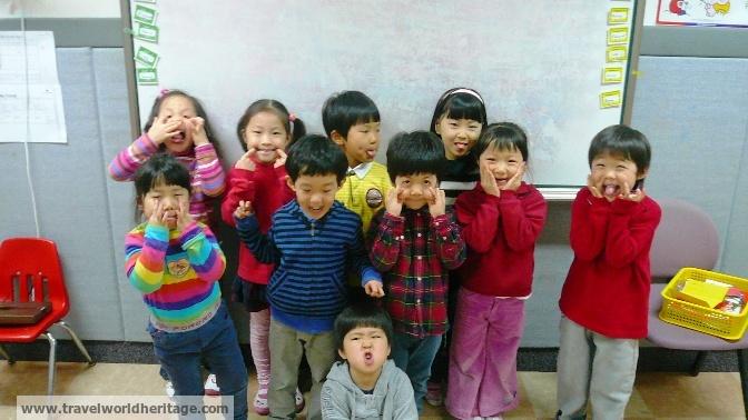 My first class in Korea - pre schoolers