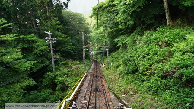 Going down the Koyasan Cablecar is pretty awesome.