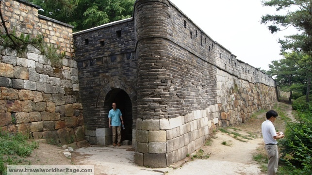 The secret entrance to Hwaseong