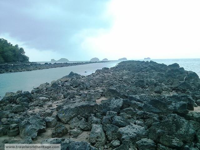 River between the rocks