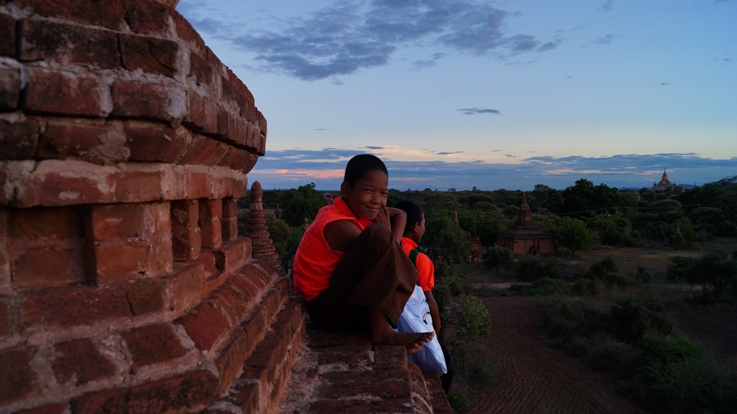 Kids in Bagan were quick to tell us what are good and bad Burmese manners. They also had a pretty cool coin collection.