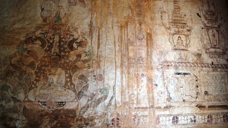 Paintings in Bagan temples