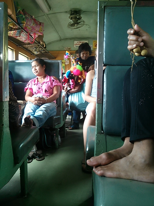 In this train to Ayutthaya, the locals insisted I eat until I couldn't eat anymore.
