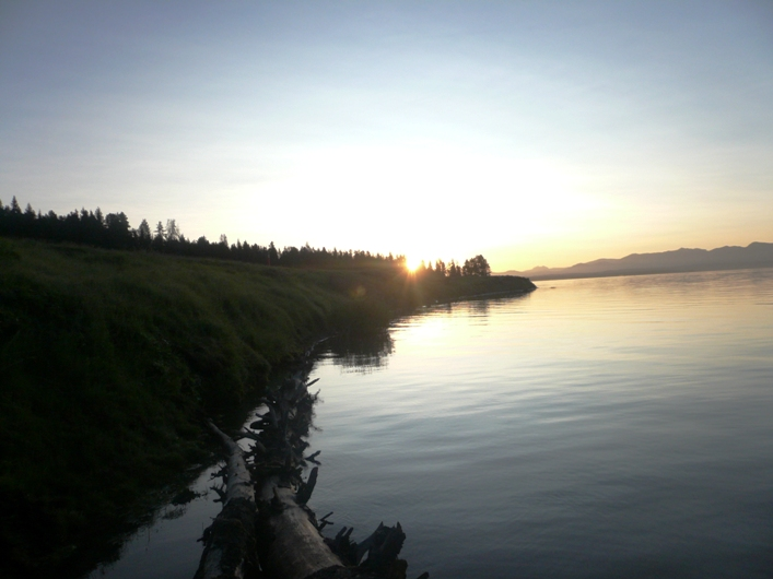 Sunrise over Yellowstone Lake