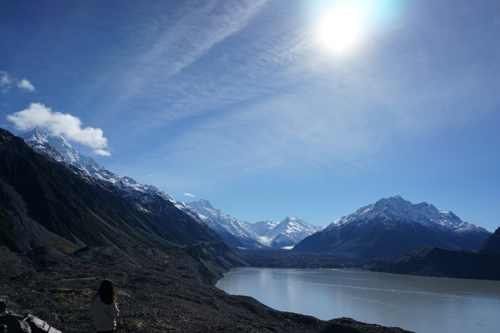 At the Tasman Glacier