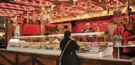 Chocolate at Winter Market on Damrak and Beursplein