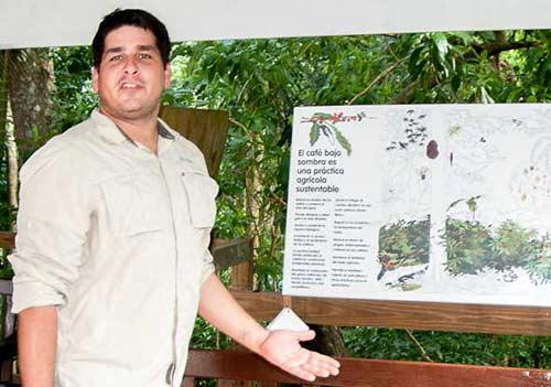 Puerto Rican coffee plantation naturalist