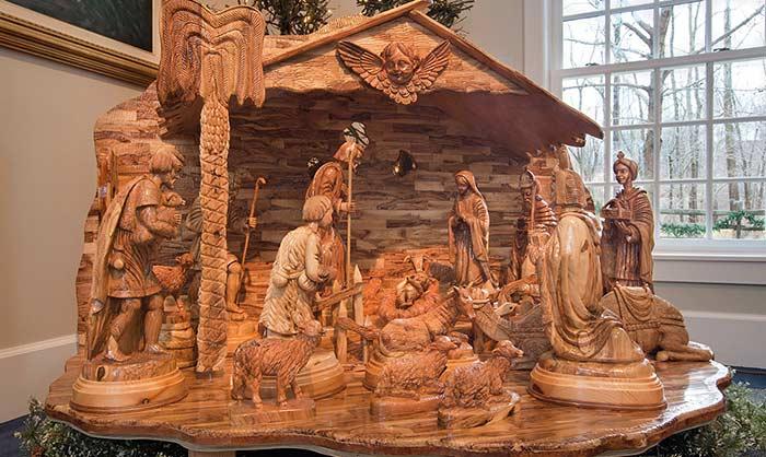 Wooden Nativity Exhibit in Kirtland Ohio