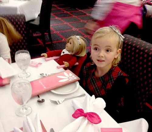 American girl luncheon in Chicago