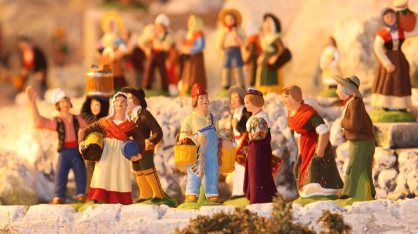 Santon Figurines in Creche France
