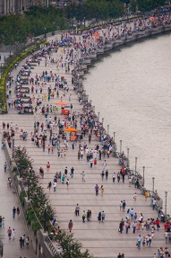 Pedestrian promenade along the Bund