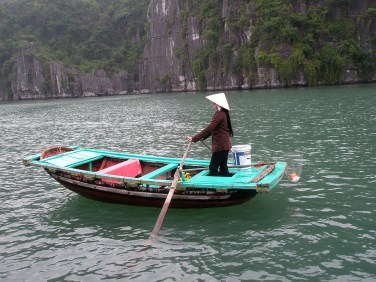 Halong Bay boatwoman