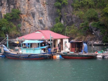 Fishermen at Halong Bay