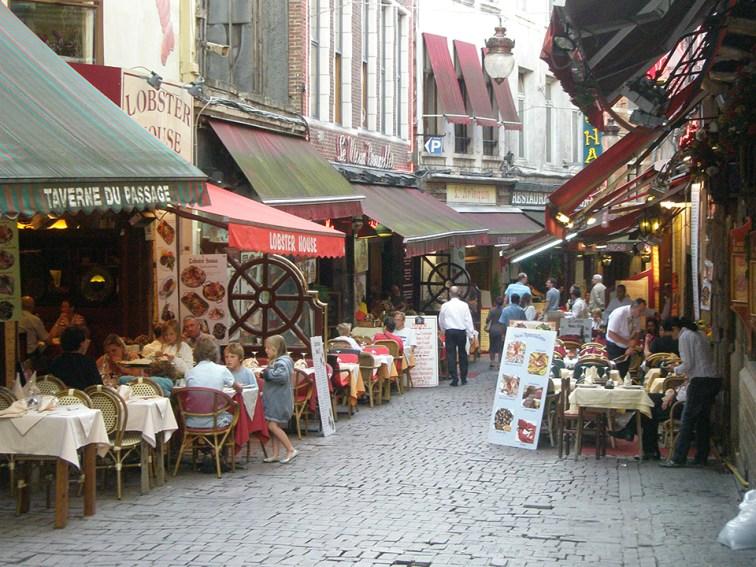 Brussels street cafes. Photo credit: Deborah Stone