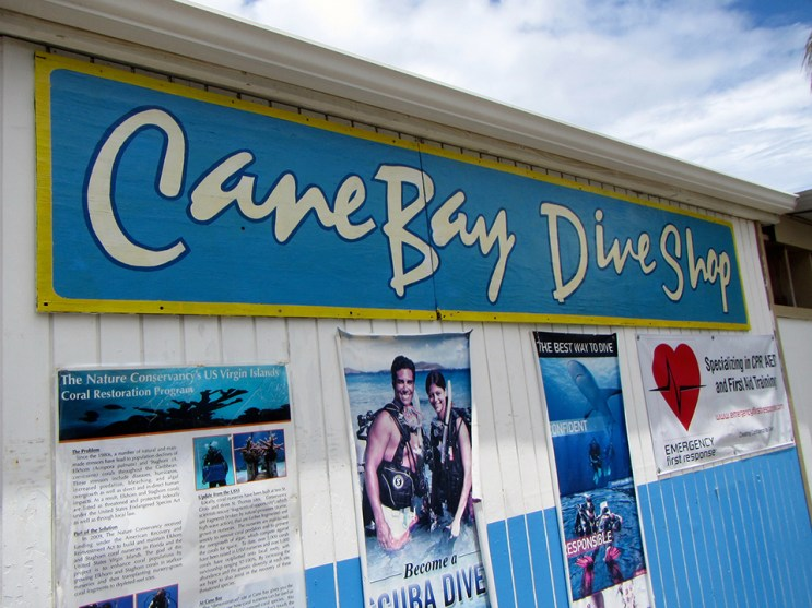 Cane Bay Dive Shop. Photo Credit: Debbra Dunning Brouillette