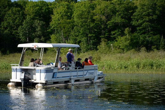 "Loon Pontoon"" boat"" Photo Credit: Linda Askomitis"