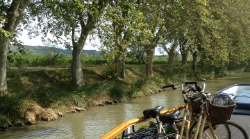 Cruising down the Canal du Midi. Photo credit: Jacqueline Harmon Butler