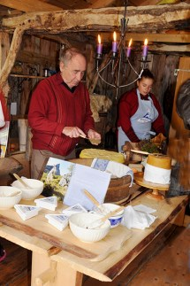 Geirangerfjord: Fresh goat-cheese samples at Herdal Summer Farm. Photo credit: Jennifer Crites