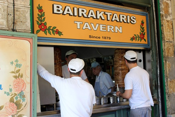 Bairaktaris Tavern in Athens. Photo credit: Jim Richardson