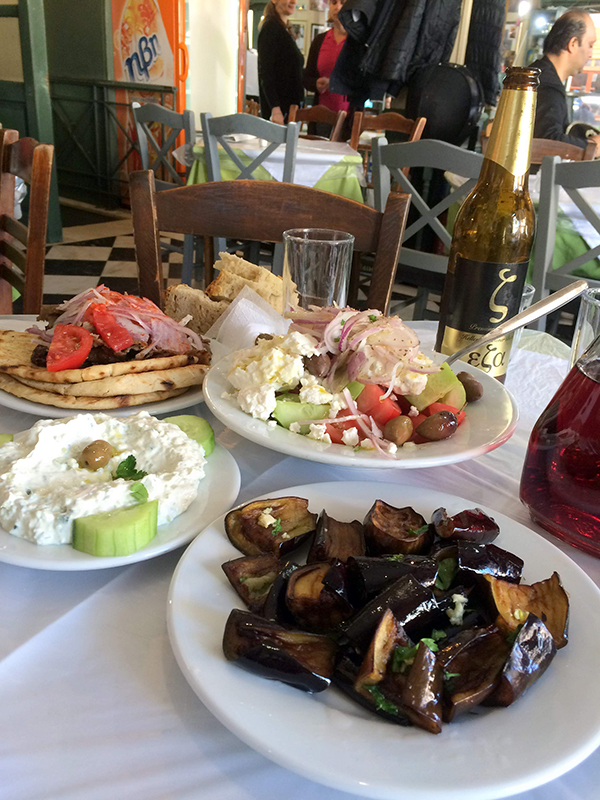 Greek feast in the Plaka. Photo credit: Jim Richardson