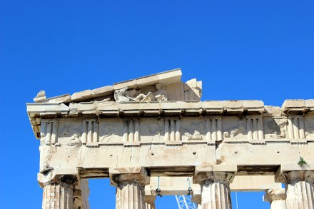 Detail on the Acropolis in Athens, Greence. Photo credit: Jim Richardson