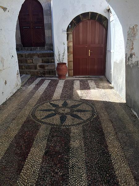 Stone mosaic in Rhodes. Photo credit: Jim Richardson