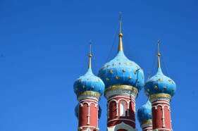 Onion domes of St. Demetrios on the Blood church. Photo credit: Kristin Winet