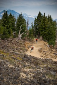 Mount Bachelor now has a lift-served bike park for downhill runs, Mt. Bachelor Bike Park. Photo Credit: Nate Wyeth, Visit Bend