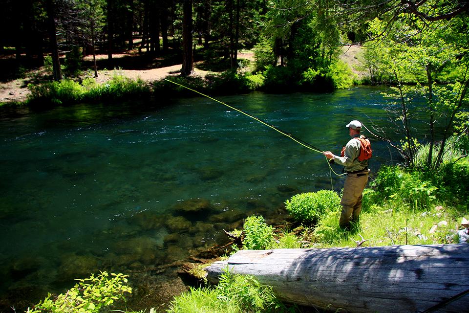 Fishing in Bend, Oregon. Photo Credit: Ben Roman, Visit Bend