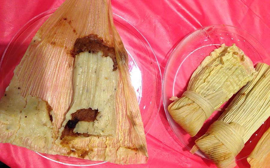 Delicious Mexican tamales. Photo Credit: Leslie Long