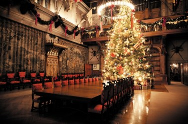 35-foot Fraser fir tree in the Banquet Hall. Photo Credit: The Biltmore Company.