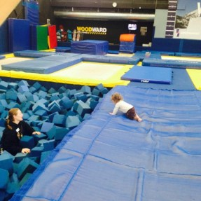 Sabbath crawling to the foam pit at Woodward Barn. Photo Credit: Julie Hatfield