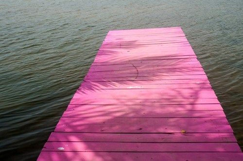 Shocking pink jetty pier