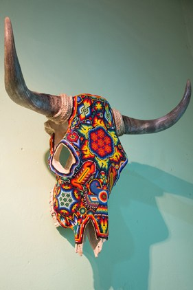 Artistically decorated longhorn