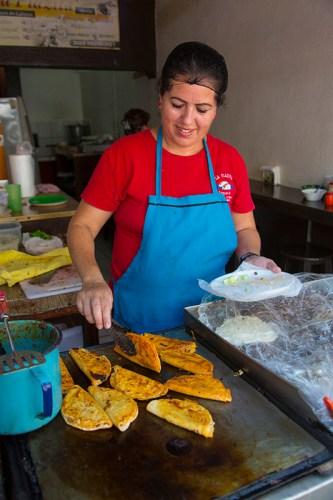 Taco maker, Vallarta Food Tours, El Pitillal