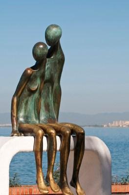 La Nostalgia sculpture on the Malecon