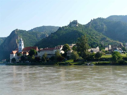 Durnstein on Danube in Wachau Valley Austria