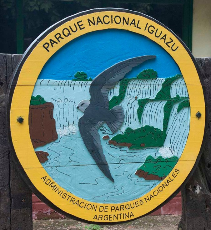 Iguazu National Park sign