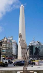 Obelisk at the center of Avenue 9 de Julio
