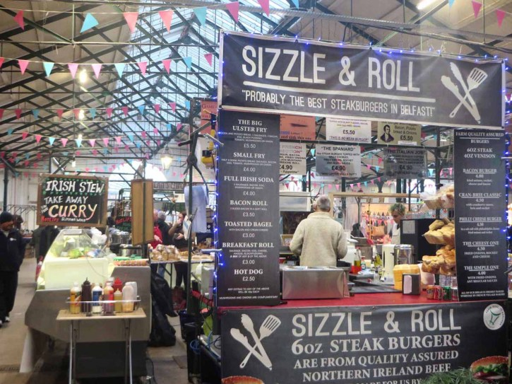 St. Georges market is an iconic landmark in Belfast