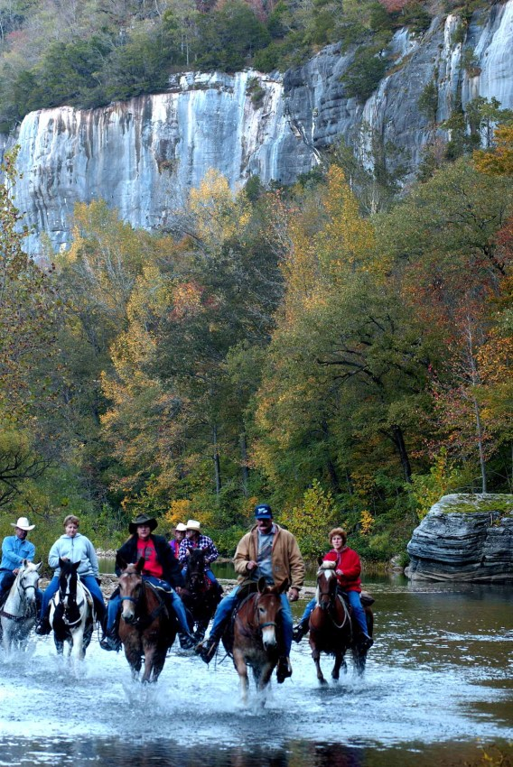 Horseback riding is a popular activity on the Buffalo National River. Several horse camping sites are available in the area.