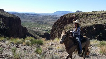 Guide Rachel Hall of Big Bend Stables